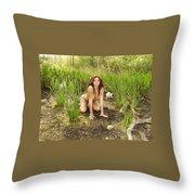 Swamp Beauty Seven Throw Pillow