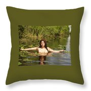 Swamp Beauty Three Throw Pillow