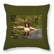 Swamp Beauty Two Throw Pillow