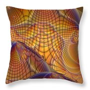 Swamp Gas Mesh Throw Pillow