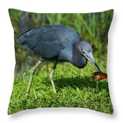 Swamp Hunter Throw Pillow