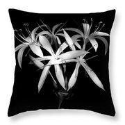 Swamp Lilies Throw Pillow