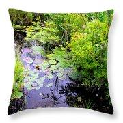 Swamp Plants Throw Pillow