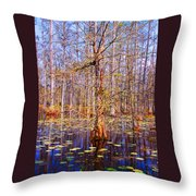 Swamp Tree Throw Pillow