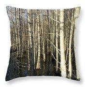 Swamp Trees Throw Pillow