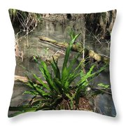Swamp Vegetation Throw Pillow