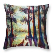 Swamplight Throw Pillow