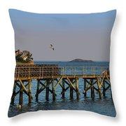 Swampscott Pier Swampscott Ma Throw Pillow