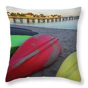 Swampscott Yacht Club Swampscott Ma Boats Throw Pillow