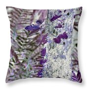 Ferns Of A Different Color Throw Pillow
