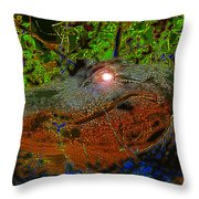 Swampthing Out There Throw Pillow
