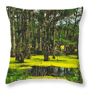 Swampy Beauty Throw Pillow