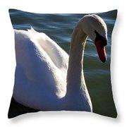 Swan 000 Throw Pillow