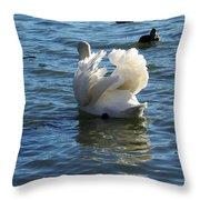 Swan 001 Throw Pillow