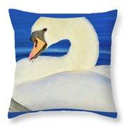 Swan 9 Throw Pillow
