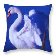 Swan At Cape May Point State Park  Throw Pillow