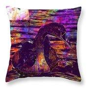 Swan Bird Animal Lake Summer  Throw Pillow