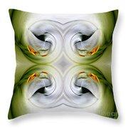Swan Dancing Throw Pillow