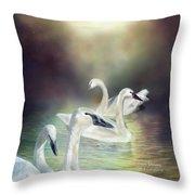 Swan Dreams Throw Pillow