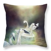 Swan Dreams Throw Pillow