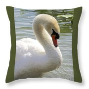 Swan Elegance Throw Pillow