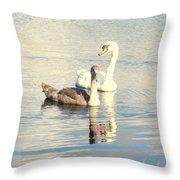 Swan G Throw Pillow