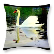 Who Is Afraid Of The Big White Swan  Throw Pillow by Hilde Widerberg