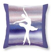 Swan Lake Ballerina Silhouette Throw Pillow