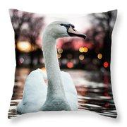 Swan Lake Night 2 Throw Pillow