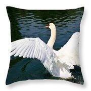 Swan Moment Throw Pillow