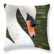 Swan Profile Throw Pillow