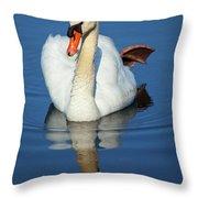 Swan Reflection Throw Pillow
