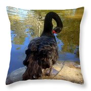 Swan Self Care Throw Pillow