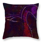 Swan Silhouette Drop Of Water  Throw Pillow