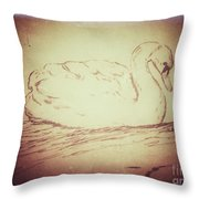 Swan Song Throw Pillow