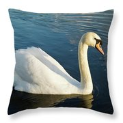 Swan Strutting Throw Pillow