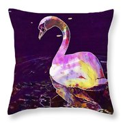 Swan Water Bird Water River  Throw Pillow