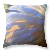 Swan Wing One Throw Pillow