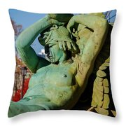 Swann Memorial Fountain Throw Pillow