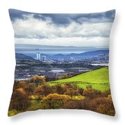 Swansea And Mumbles Throw Pillow
