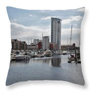 Swansea Marina Throw Pillow