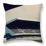 Swansea - Vetch Field - East Terrace 2 - 1970s Throw Pillow