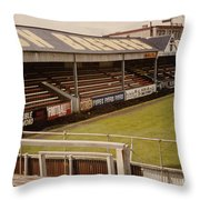 Swansea - Vetch Field - North Bank 2 - 1970s Throw Pillow