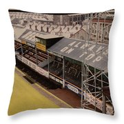 Swansea - Vetch Field - North Bank 3 - 1970s Throw Pillow