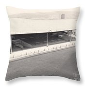 Swansea - Vetch Field - South Stand 1 - Bw - 1960s Throw Pillow
