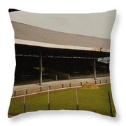 Swansea - Vetch Field - South Stand 2 - 1970s Throw Pillow