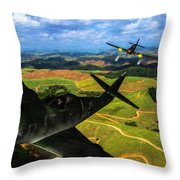 Swatting Down A Swallow - Oil Throw Pillow