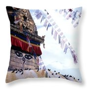 Swayambhunath II Throw Pillow