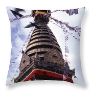 Swayambhunath Throw Pillow