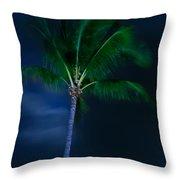 Swaying Palm Tree Throw Pillow